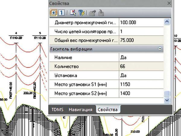 Рис. 11. Расчет мест установки гасителей вибрации