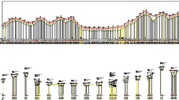 Рис. 15. Пример автоматического оформления перехода в nanoCAD ЛЭП