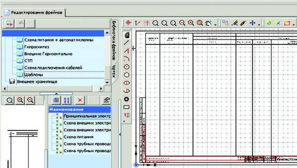 Рис. 3. Графический редактор AutomatiCS, графический шаблон