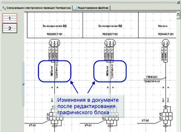 Рис. 7. Изменения в документе после редактирования графического блока