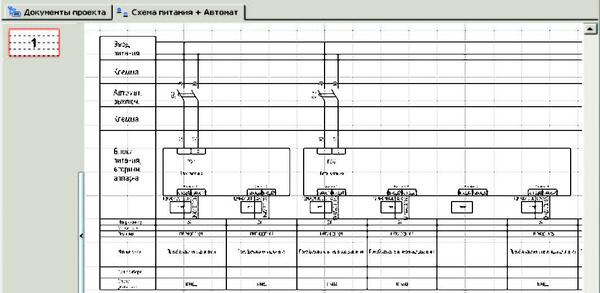 Рис. 12. Схема питания, вывод потребителей и автоматических выключателей