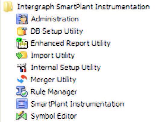 Рис. 3. Приложения SmartPlant Instrumentation