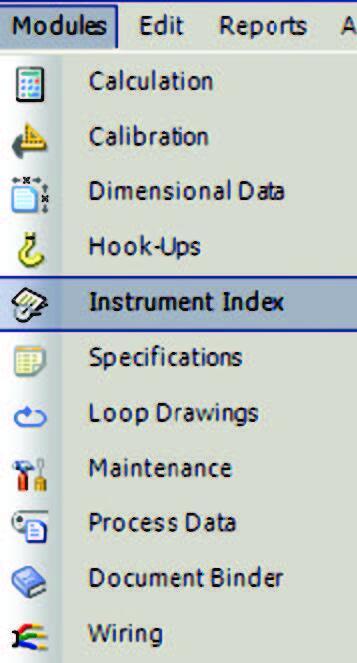 Рис. 5. Модули SmartPlant Instrumentation