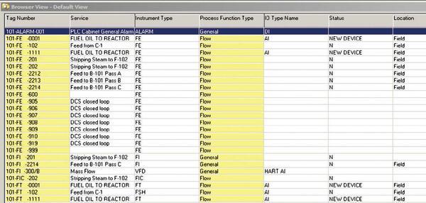 Рис. 8. Табличное представление данных в Browser