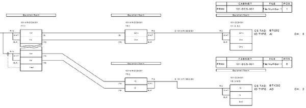 Рис. 9. Электрическая схема контура с распределением сигналов ввода/вывода