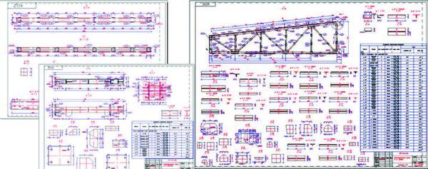 Чертежная документация, сгенерированная в AutoCAD Structural Detailing