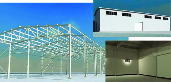 Визуализация модели, выполненная в Revit Structure