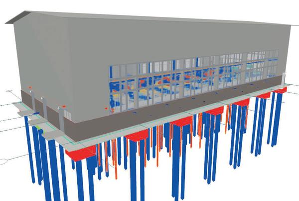 Рис. 3. Комплексная трехмерная модель насосной внешней перекачки нефти