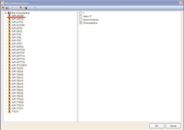 Рис. 8. Добавлены новые пользователи базы данных Model Studio CS и новые роли этих пользователей в базе