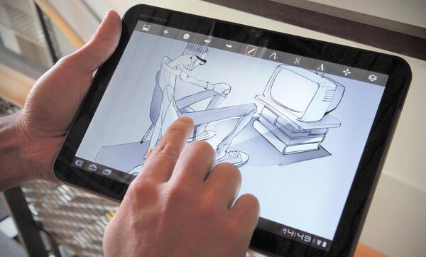 Рис. 10. SketchBook на планшетном компьютере