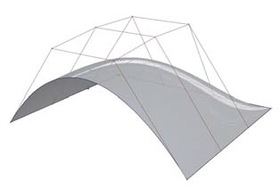 Рис. 3. NURBS-поверхность