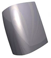 Рис. 5. Блик на модели с G1-непрерывностью