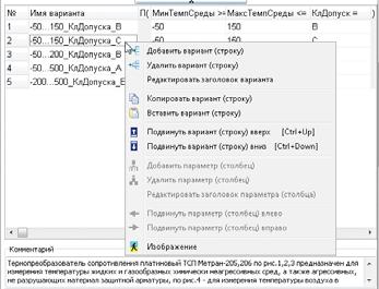Рис. 6. Команды для редактирования БДЗ