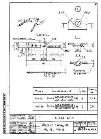 Рис. 6. Один из чертежей серии 1.100.3&6, утвержденный Госстроем в 1988 году. Еще действующий! Взят из базы нормативных документов NormaCS