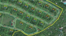 3D&модель дорог (вид сверху)