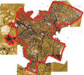 Топографический план с границами территории