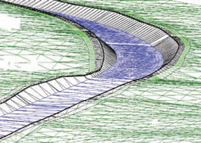 Трехмерная визуализация русла реки