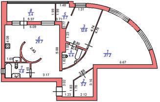 Рис. 1. План помещения со сложной планировкой
