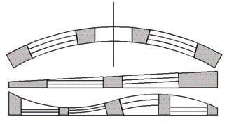 Рис. 7. Различные варианты вставки объектов в непрямоугольные стены