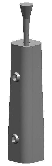 Рис. 1. 30-модель изложницы, использованная для расчета напряженного состояния после изготовления