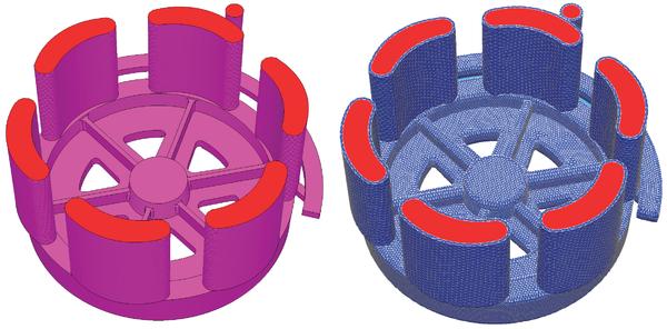 Рис. 2. Создание оболочки (керамическая форма) в модуле Мастер-3D (модель ОАО Чусовской металлургический завод)