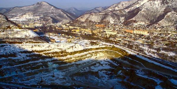 Карьер добычи борной руды (Приморский край, г. Дальнегорск)