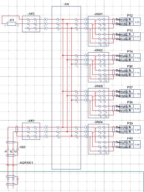 Рис. 6. ГФД, схема шкафа счетчиков, подключения интерфейсов