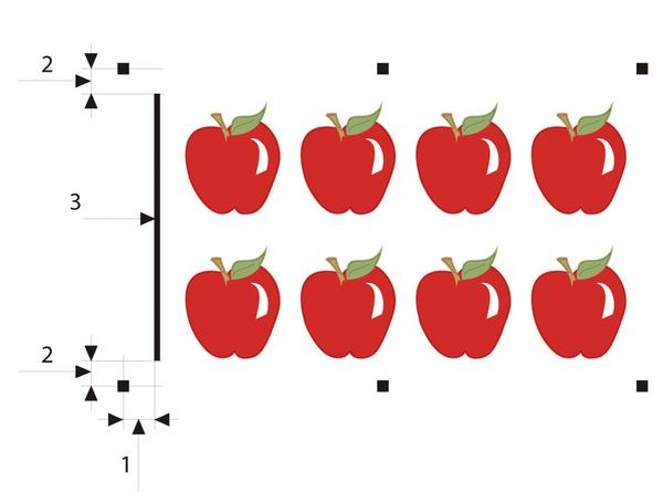 Рис. 2. Режим OPOS XY: в дополнение к меткам печатается специальная линия для отслеживания искажений по оси Y