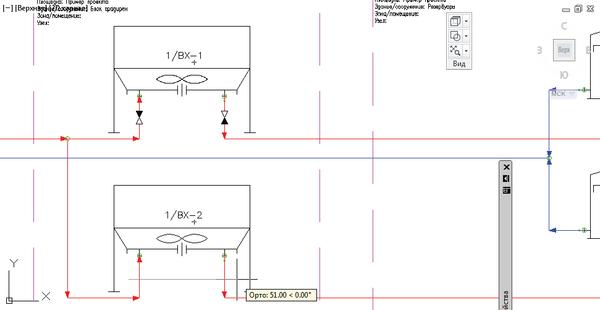 Рис. 11. Вставка арматуры методом сечения с автоматическим контролем и ориентацией арматуры