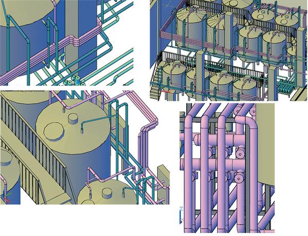 Рис. 5. Прокладка трубопроводов