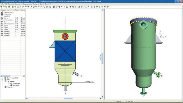 Примеры чертежей и 3D-моделей сосудов, колонн, воздухоохладителей