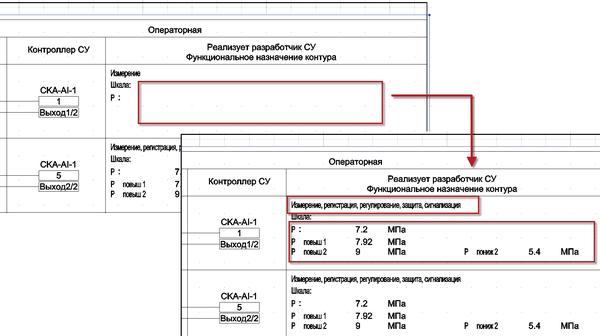 Рис. 3. Фрагмент документа Принципиальные схемы электрических соединений