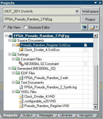 Рис. 5. Дерево документов FPGA-проекта