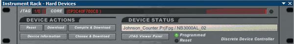 Рис.6. Виртуальная панель инструментов работы с ПЛИС