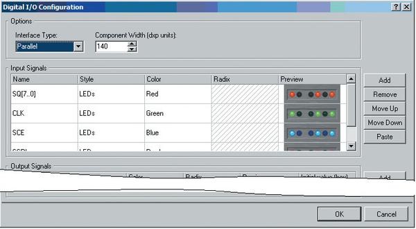 Рис. 8. Диалог настройки конфигурации модуля цифрового ввода/вывода