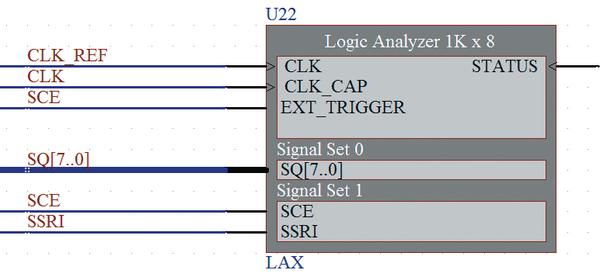 Рис. 11. Cхемный символ логического анализатора LAX