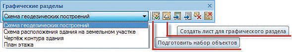 Рис. 5. Панель инструментов для формирования графического раздела
