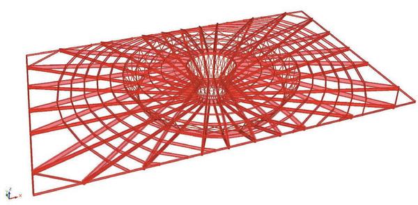 Рис. 3. I вариант конструктивной схемы покрытия