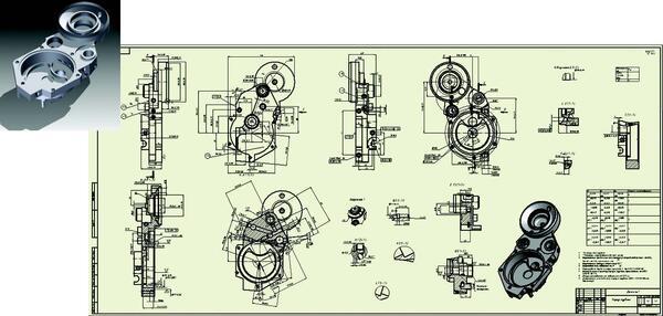 Модель и чертеж, выполненные в ходе практики на ЗАО Орбита