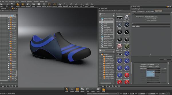 Модель ботинка в VRED