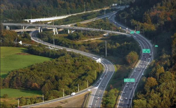 Развязка автомагистрали Маленце