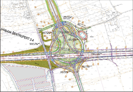 План развязки Шентруперт на автомагистрали А1