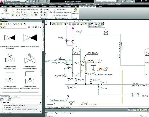 Рис. 3. Model Studio CS Технологические схемы
