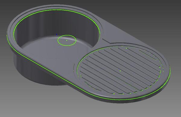 Рис. 1. Модель кухонной мойки
