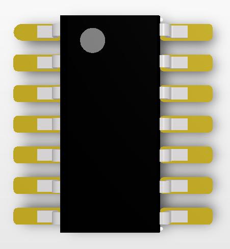 Рис. 17. Подключенная к библиотечному посадочному месту и выровненная модель корпуса электронного компонента