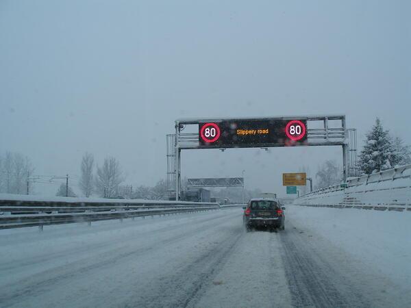 Зима на словенском шоссе