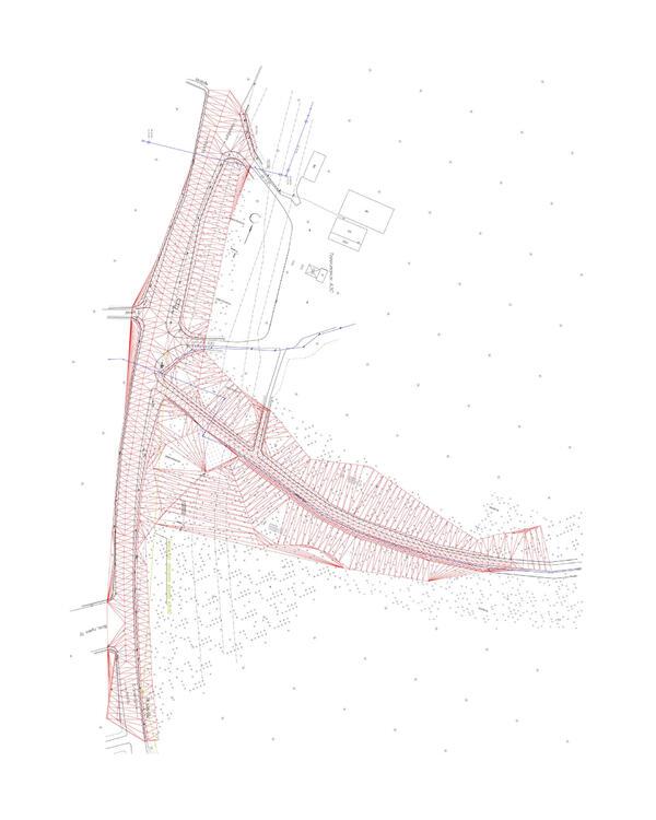 Топографическая съемка отредактированная в AutoCAD Civil 3D