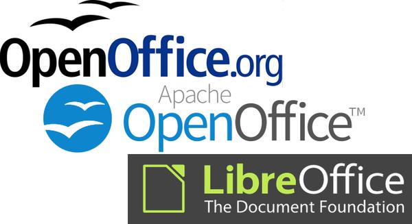 Рис. 1. Поддерживаемые семейства OpenOffice