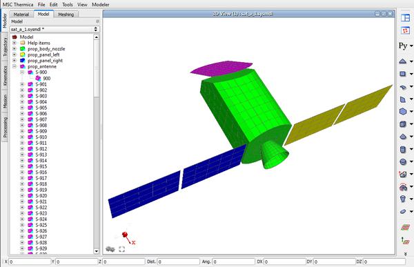 Рис. 8. MSC Systema Modeler: режим отображения геометрической модели (Model)
