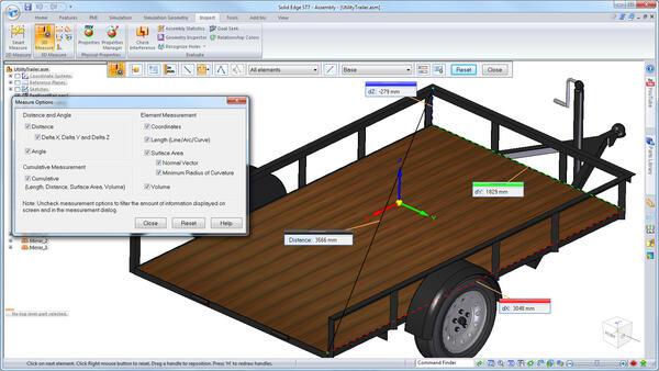 Улучшения в инструментах выполнения измерений в версии ST7 позволяют проводить измерения и параметров геометрических объектов, и расстояний между ними